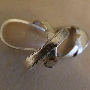 Michael Kors Gold Sandals Size 6.5